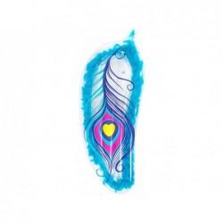 Colchoneta Hinchable 189x79 Cm. Azul Con Plumas Bestway 43241