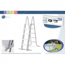 Escalera intex 28074. 122/132 cm  | PiscinasDesmontable