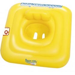 Asiento con Flotador Hinchable Swim Safe Cuadrado de 69x69 cm | PiscinasDesmontable