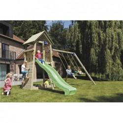 Parque Infantil Con Columpio Doble Belvedere Masgames Ma811401