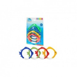 Juego De Aros Acuaticos Para Bucear Intex 55507 | PiscinasDesmontable