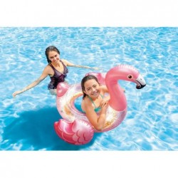 Flotador Flamenco Con Purpurina 71x99x89 Cm. Intex 56251 | PiscinasDesmontable
