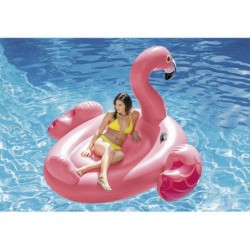 Isla Flamenco Rosa Hinchable De 218x211x136 Cm | PiscinasDesmontable