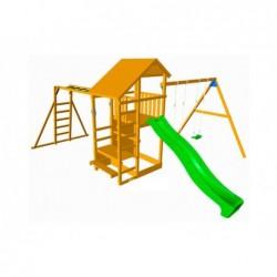 Parque Infantil Con Columpio Doble Y Escalera De Mono Teide Xl Masgames Ma700103