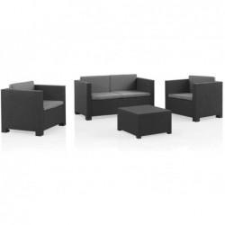 Muebles de Jardín Set Modelo Diva Confort Grafito SP Berner 55440