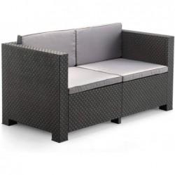 Muebles de Jardín Set Modelo Diva Confort Grafito SP Berner 55440 | PiscinasDesmontable