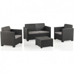 Muebles de Jardín Set Modelo Evo Confort Antracita SP Berner 55404