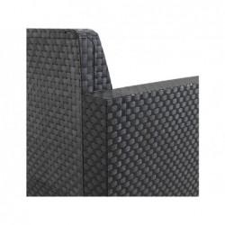 Muebles de Jardín Set Modelo Evo Confort Antracita SP Berner 55404 | PiscinasDesmontable