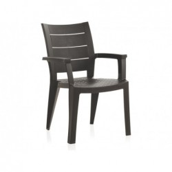 Muebles de Jardín Silla Modelo Legno Wengué SP Berner 55232 | PiscinasDesmontable