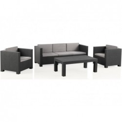 Muebles de Jardín Set Modelo Diva Tropea Antracita SP Berner 55441