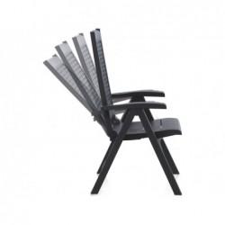 Muebles de Jardín Sillón Multiposición Modelo Metal Antracita SP Berner 55351 | PiscinasDesmontable