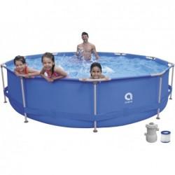Piscina Desmontable con Depuradora 1136 L. Jilong 17799EU Super Round Pool Set 360x76 cm.