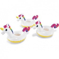 Posavasos Hinchables Intex 57506 Pack 3 Unidades Unicornios