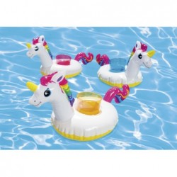 Posavasos hinchables Intex 57506 Pack 3 unidades Unicornios | PiscinasDesmontable