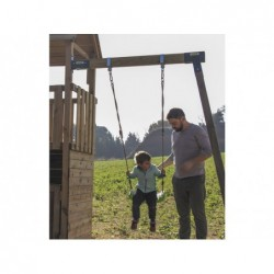 Parque Infantil Belvedere L con Columpio Individual de Masgames MA811411 | PiscinasDesmontable