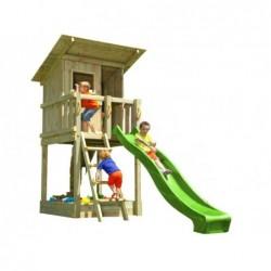 Parque Infantil Brach Hut XL con Columpio Individual de Masgames MA802311