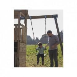 Parque Infantil Brach Hut XL con Columpio Individual de Masgames MA802311 | PiscinasDesmontable