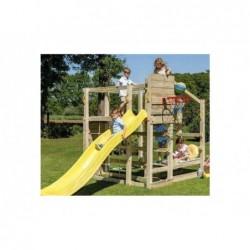 Parque Infantil Crossfit XL con Columpio Individual y Tobogán de Masgames MA802911