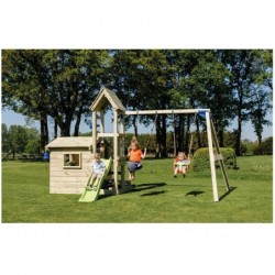 Parque Infantil Lookout Con Columpio Doble Y Casita Masgames Ma812801