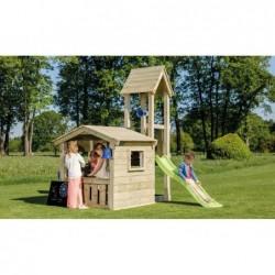 Parque Infantil Con Casa Mini Lookout Masgames Ma801801