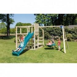 Parque Infantil Crossfit Con Columio Doble Y Tobogán Masgames Ma811901