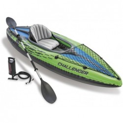 Kayak Hinchable Challenger K1 De 274x76x38 Cm Intex 68305