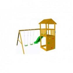 Parque Infantil Con Columpio Doble Canigó Masgames Ma700204