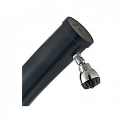 Ducha solar curvada Gre AR10250 Negra PVC de 25 Litros | PiscinasDesmontable