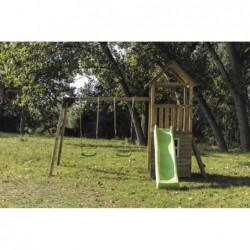 Parque Infantil Con Caseta Y Columpio Doble Tibidabo Masgames Masgames Ma700225