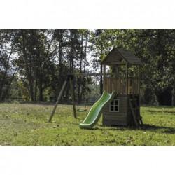 Parque Infantil Con Caseta Y Columpio Doble Tibidabo Masgames Masgames Ma700225 | PiscinasDesmontable