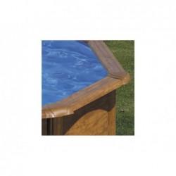 Piscina oval gre imita madera sicilia. 350 x 120 cm  | PiscinasDesmontable
