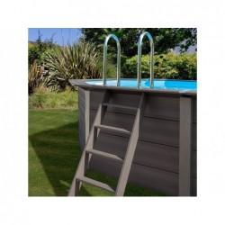 Piscina composite pool gre. Madera. 804 x 386 x 124 cm. | PiscinasDesmontable