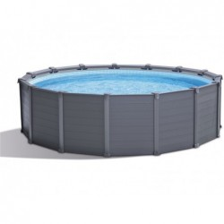 Piscina Desmontable Intex 26384np Graphite Gray Panel 478x124 Cm