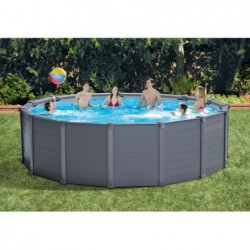Piscina Desmontable Intex 26384np Graphite Gray Panel 478x124 Cm | PiscinasDesmontable
