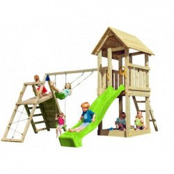 Parque Infantil Kiosk Con Columpio Challenger Masgames Ma812101