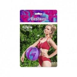 Pelota Hinchable Violeta con Plumas de 41 cm. Bestway 31051 | PiscinasDesmontable