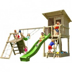 Parque Infantil Con Challenger Beach Hut Masgames Ma812301