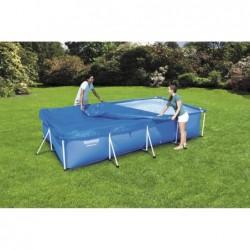 Cubierta rectangular piscinas bestway 58107. 404 x 214 cm  | PiscinasDesmontable