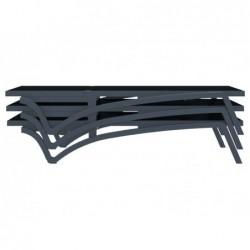 Tumbona Costa Negra y Antracita de 35x193x68 cm. | PiscinasDesmontable