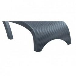 Tumbona Brava Gris de 44x187x73 cm. | PiscinasDesmontable