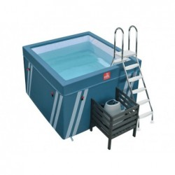 Piscina Mini Fit's Pool Para Aquafitness De 128x184x184 Cm.