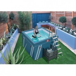 Piscina Mini Fit's Pool para Aquafitness de 128x184x184 cm. | PiscinasDesmontable