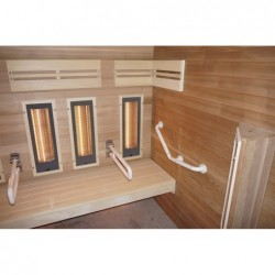 Sauna Hybrid de Movilidad Reducida de 4 personas 190 cm. POOLSTAR HL-HC04A-K | PiscinasDesmontable