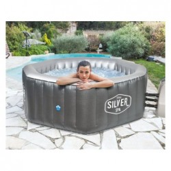 Netspa Hinchable Silver Poolstar Sp-Slv155c De 5 Plazas | PiscinasDesmontable