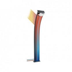 Ducha Poolstar Dada Curve Antracita Aluminio 38 L. Híbrida Ds-D363nx | PiscinasDesmontable