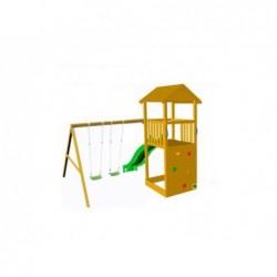 Parque Infantil Con Columpio Doble Taga Escalada Masgames Ma700365